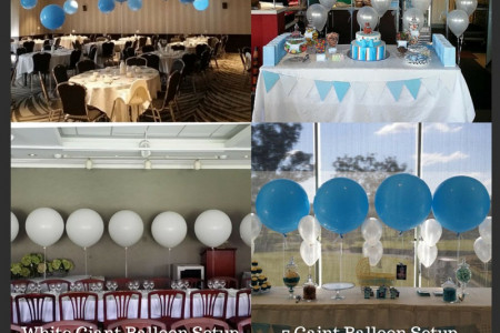 Giant Latex Balloons Arrangements Ideas Infographic