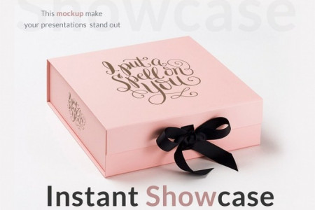 Gift Box PSD Template Infographic