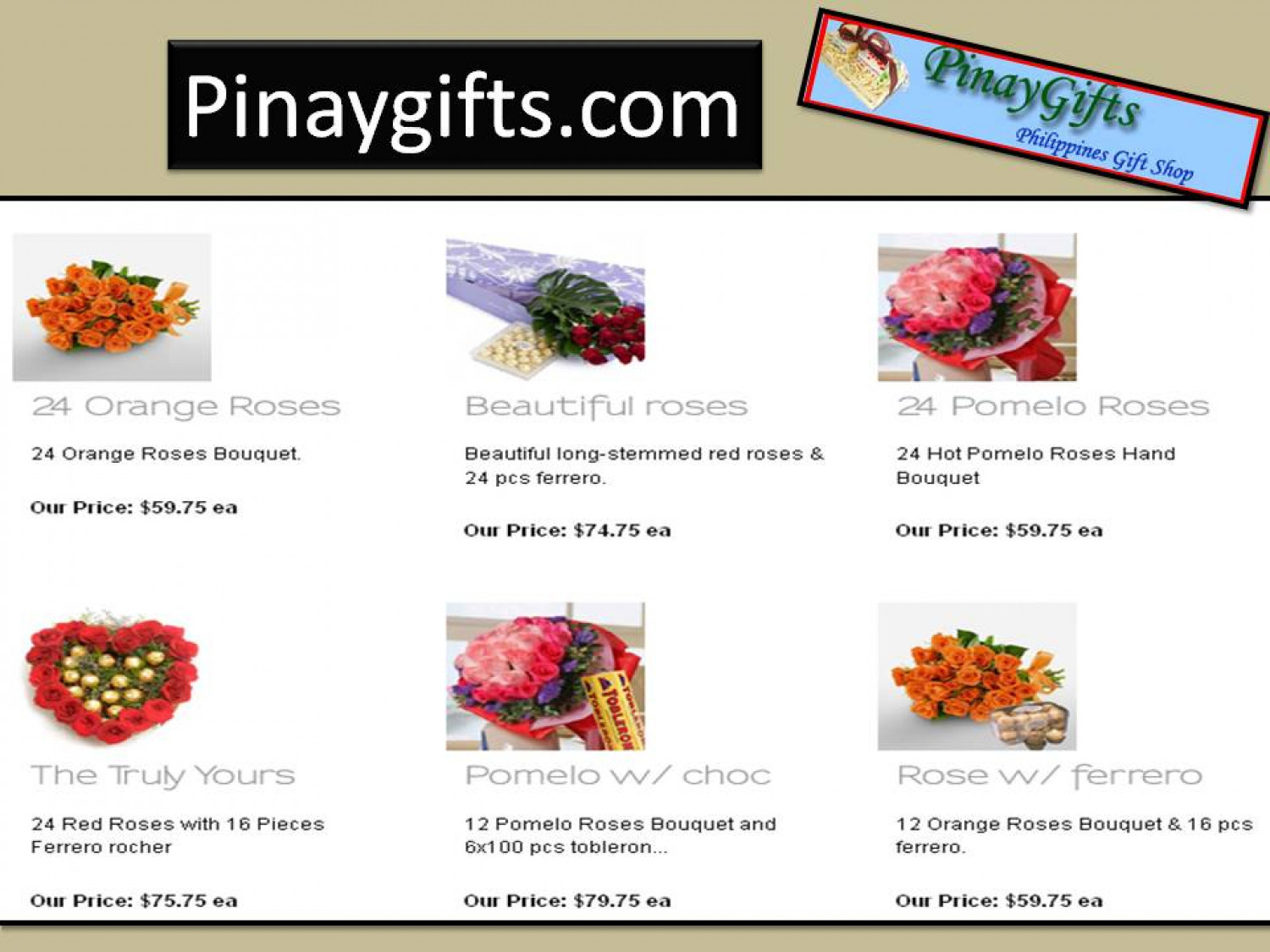 Gifts to Philippines - Pinaygifts.com Infographic