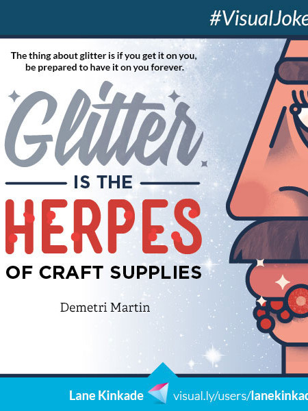Glitter and Herpes Infographic