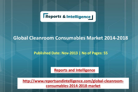 Global Cleanroom Consumables Market 2014-2018 with a CAGR of 4.95 percent Infographic