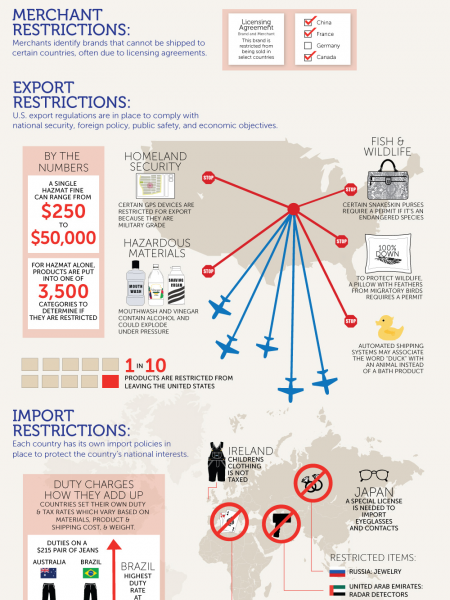 Global E-Commerce Shipping is Not Simple Infographic