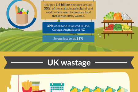 Global Food Waste: The Numbers Behind The Problem Infographic