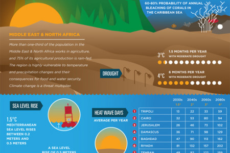 Global Impact Of Climate Change Infographic