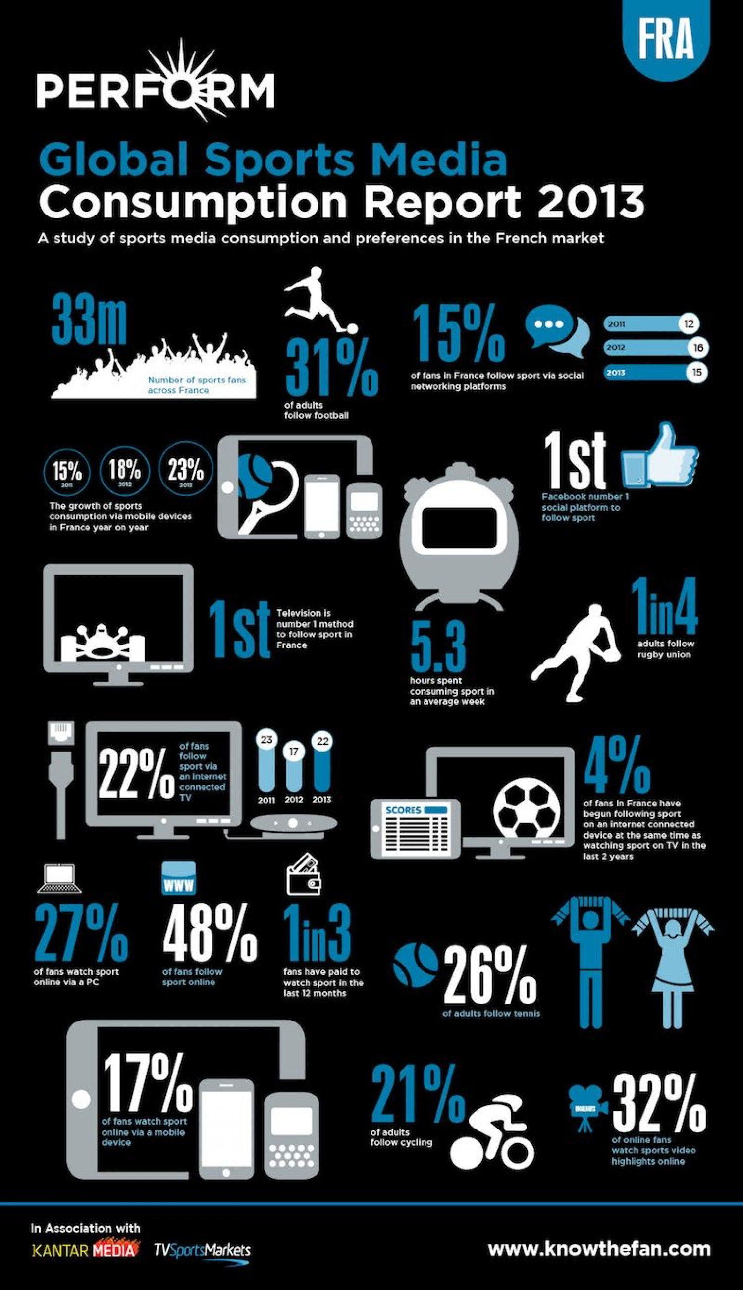 Global Sports Media Consumption Report 2013 Infographic