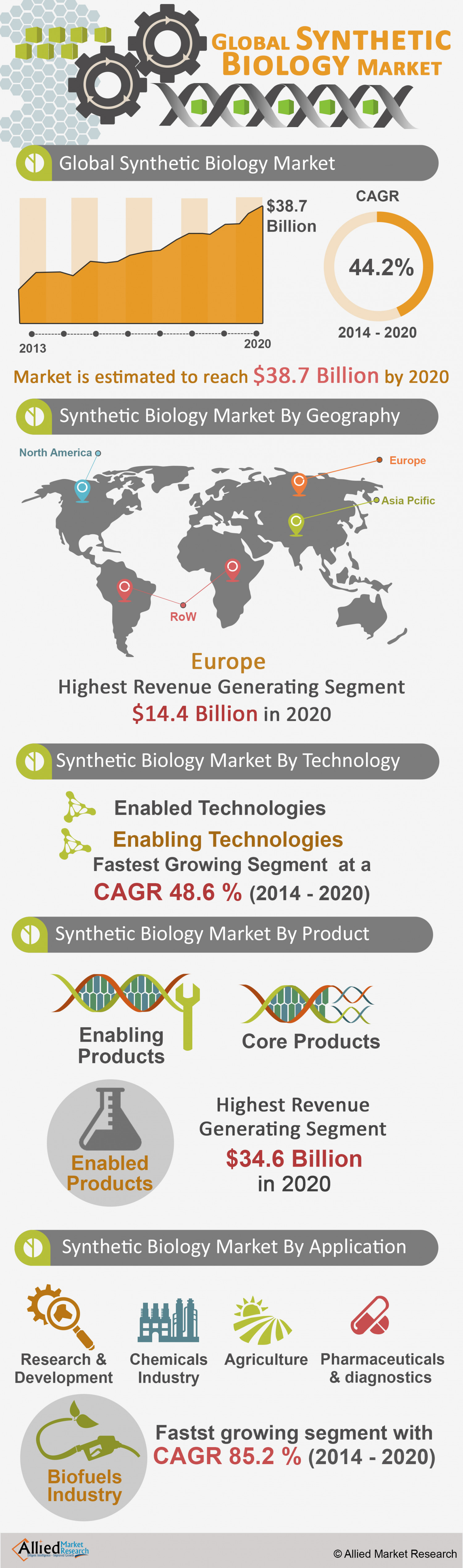Global Synthetic Biology Market Infographic