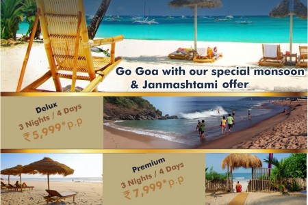 Goa Tour packages Monsoon and janmashtami offer by opulent tourism Infographic