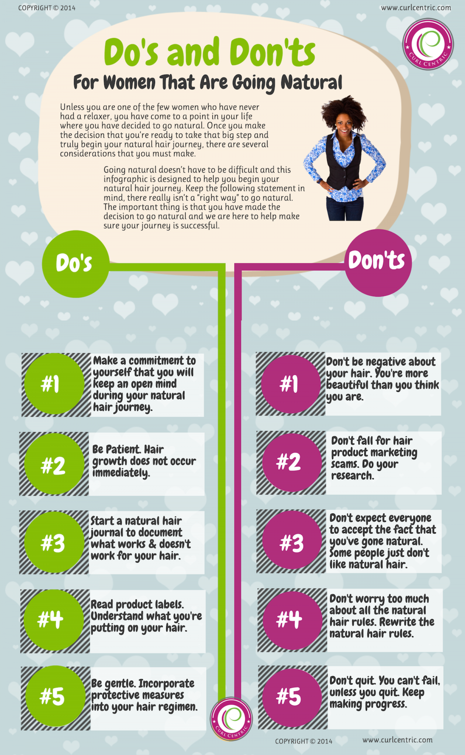 Going Natural: Natural Hair Do's and Don'ts Infographic