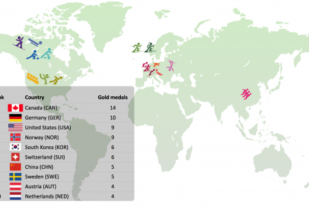 Gold Medals at the 2010 Winter Olympics Infographic