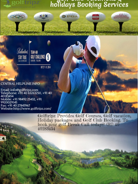 Golftripz vacations & Holidays planner across the world, Golftripz booking services Infographic