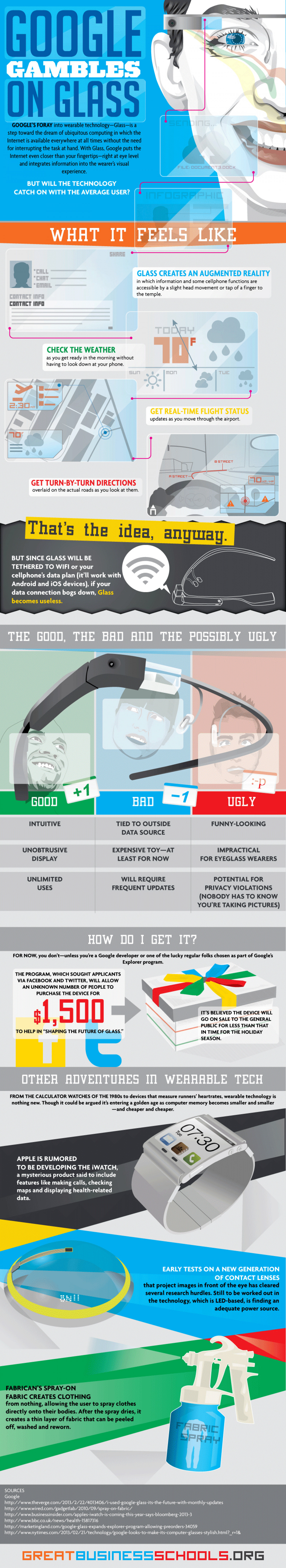 Google Gambles on Glass Infographic