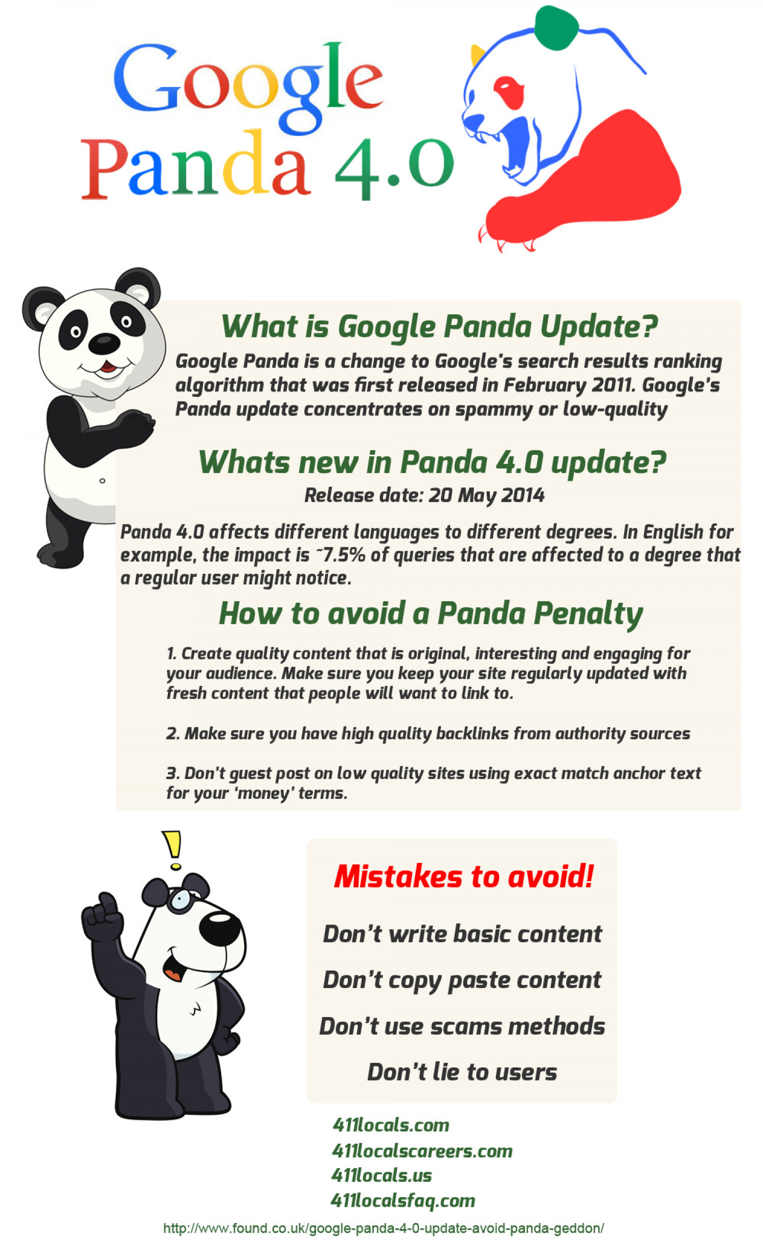 Google Panda Update 4.0  Infographic
