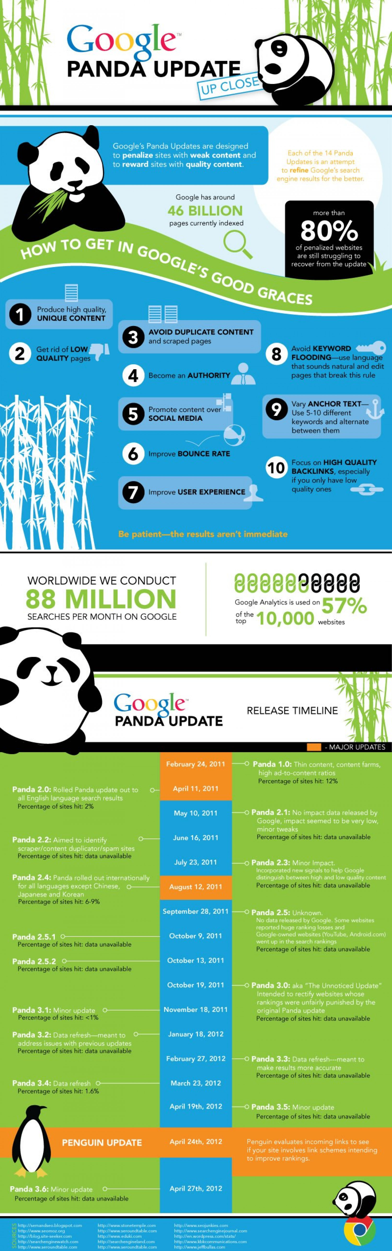 Google Panda Update History and Guideline to Save Your Business BY EBriks Infotech Infographic