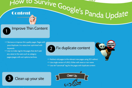 Google's Panda Survival Tips Infographic
