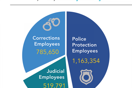 Government Employment in the Criminal Justice System Infographic