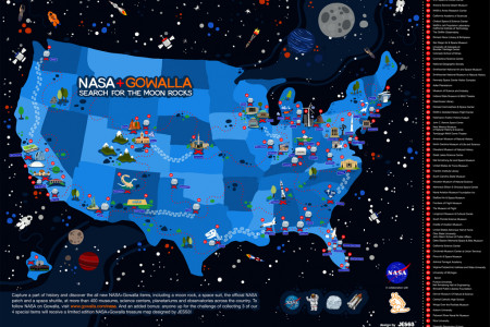 Gowalla NASA Map Infographic