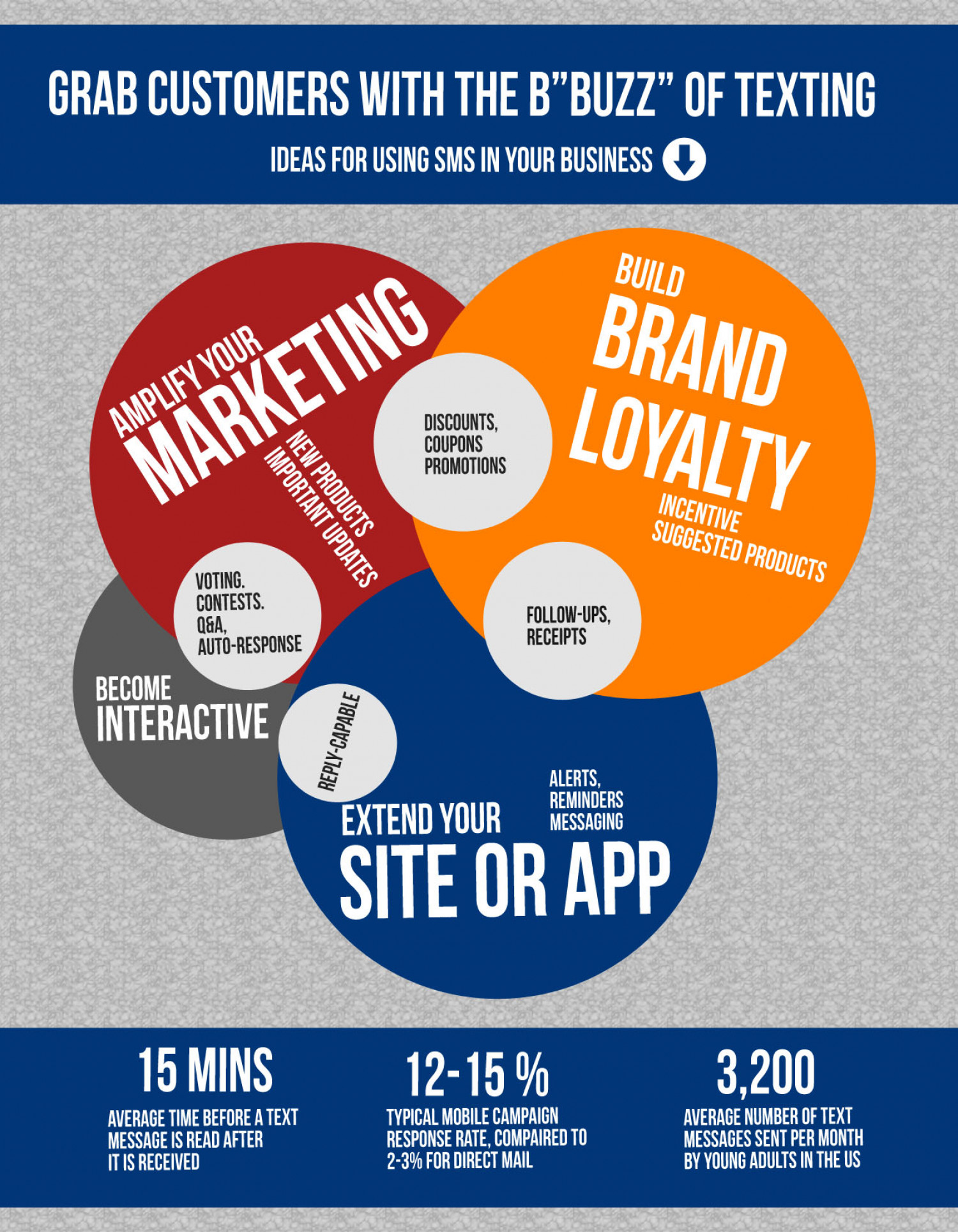 Grab Customers With The B Buzz of Texting Infographic