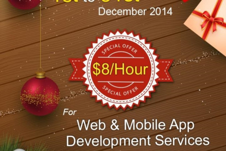 Grab the best Christmas offer on Web and Mobile services Infographic