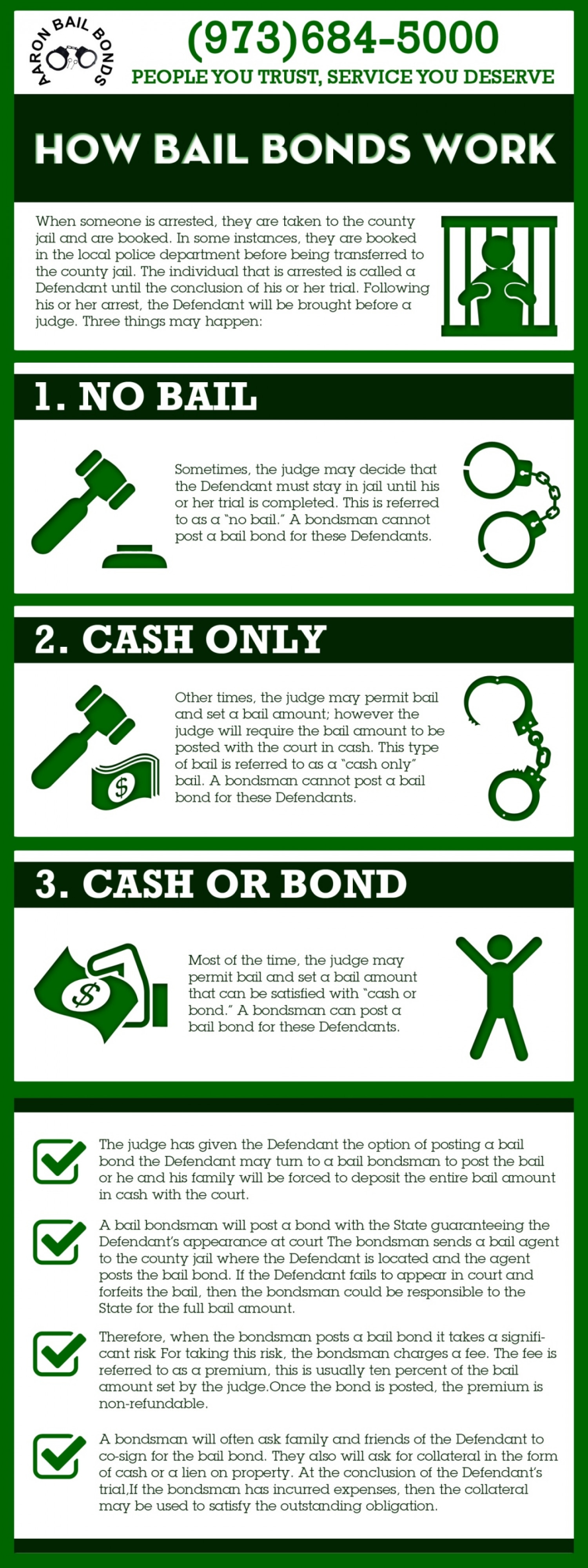 Great Aaron Bail Bonds Infographic Infographic