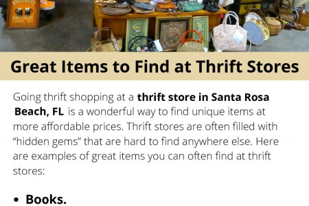 Great Items to Find at Thrift Stores Infographic