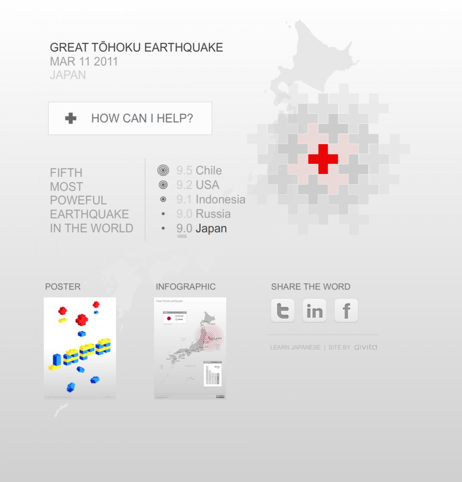Great Tohoku Earthquake  Infographic