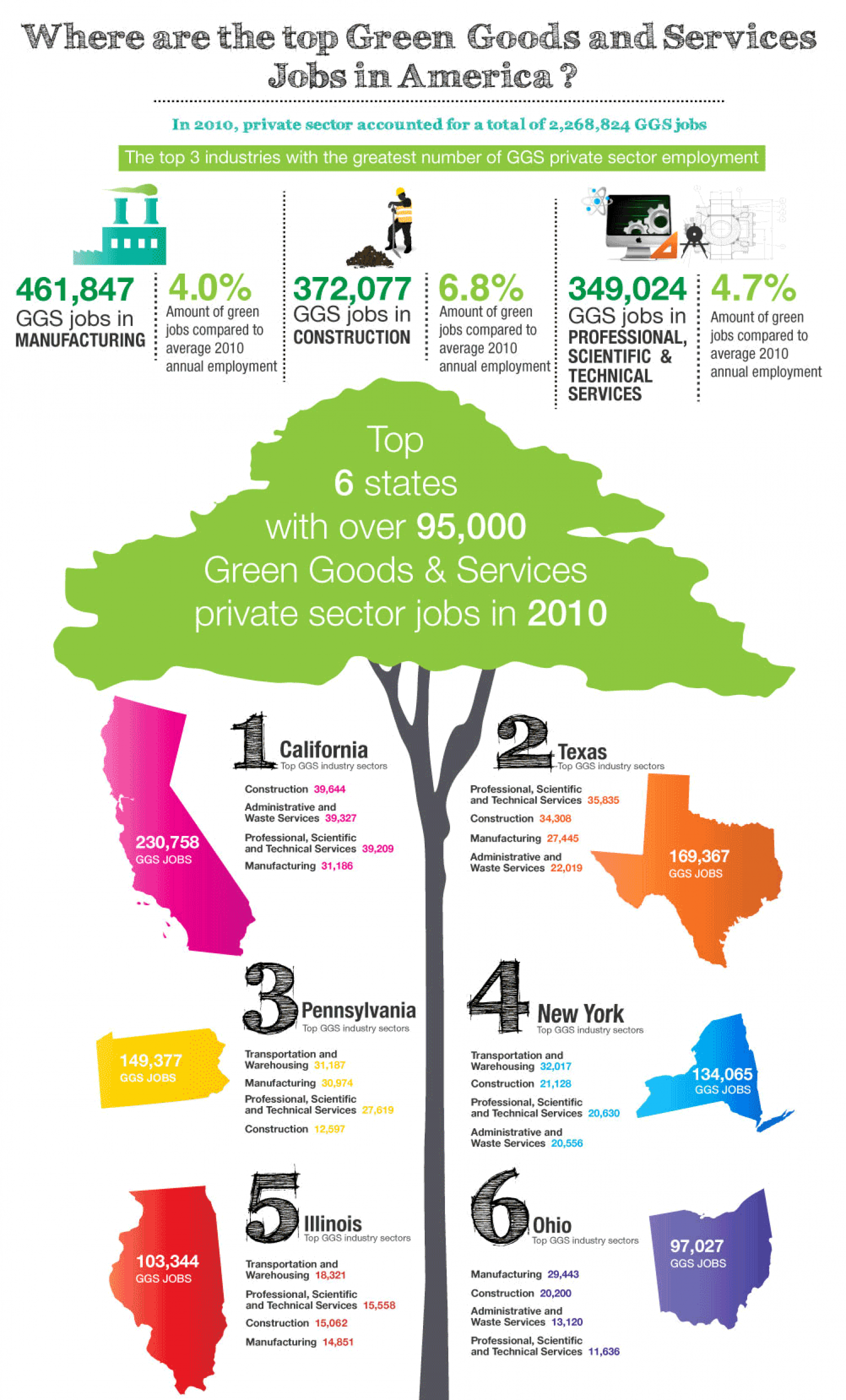 Green Jobs Growth in the USA Infographic