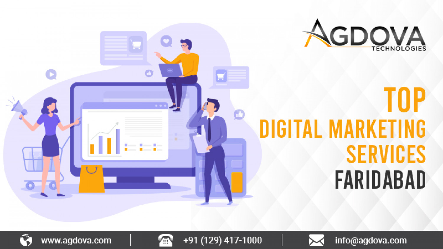 Grow Business with Top Digital Marketing Services in Faridabad Infographic