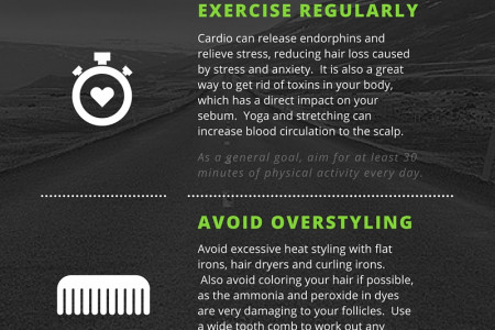Grow Healthy Hair Fast Infographic