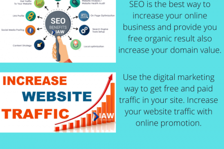 Grow your business online with the help of Digital Marketing Infographic
