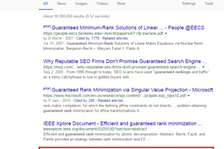 GUARANTEED RANK your Website On Google Page #1 Infographic