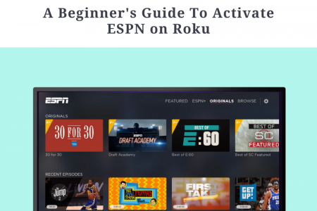 Guide to Activate ESPN on Roku Infographic