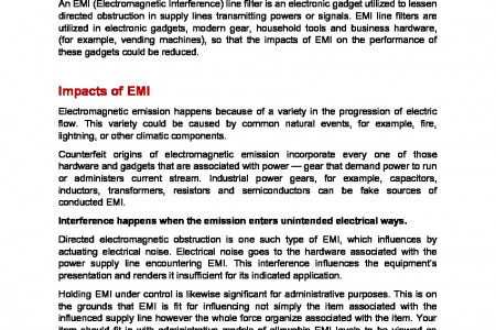 Guide to Choosing EMI Power Line Filters Infographic