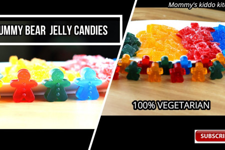 Gummy bear candy recipe Infographic