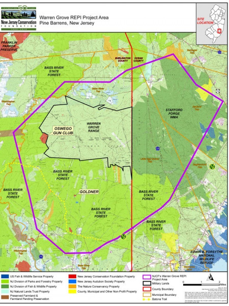 Gunnery range tries to chase down hard-to-trace land titles for pinelands buffer Infographic