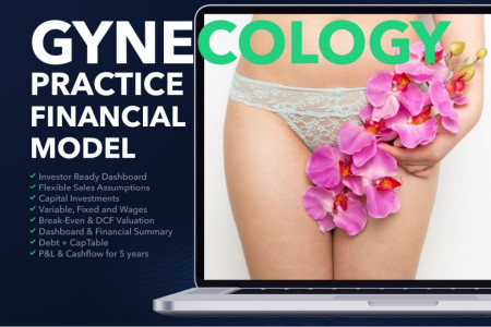GYNECOLOGY CENTER BUSINESS PLAN FINANCIAL MODEL EXCEL TEMPLATE Infographic