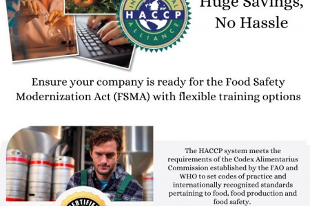 HACCP Certification Courses Online Infographic