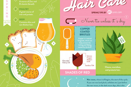 Hair Care Tips for this Spring Infographic