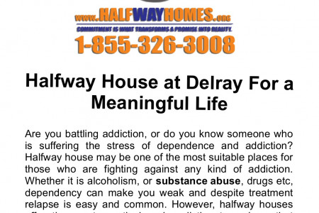 Halfway House at Delray For a Meaningful Life Infographic