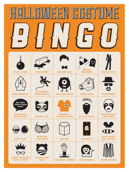 Halloween Costume Bingo Infographic