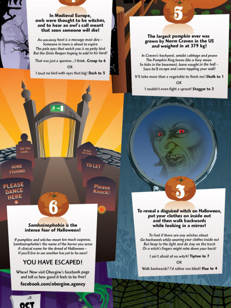 Halloween story: Escape the Jam Factory [infographic] Infographic