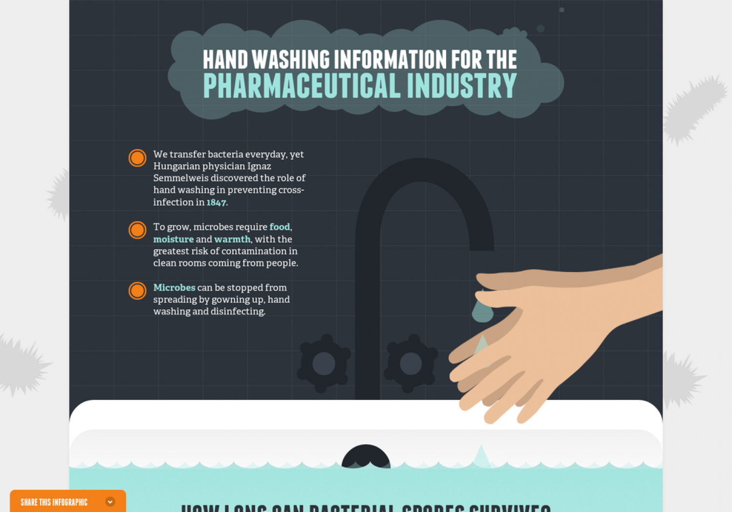 Handwashing Information for the Pharmaceutical Industry Infographic