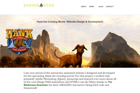 Hank the Cowdog: Interactive Design for Film Website Infographic