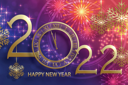 Happy New Year Card Image 2022 Infographic
