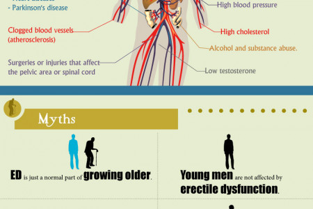 Hard Truth about Erectile Dysfunction Infographic