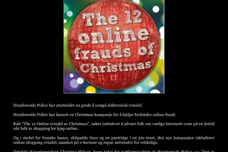 Hass & Associates Online Reviews Om 12 online frauds av julen Infographic