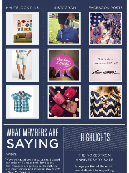 Hautelook for Nordstrom Infographic