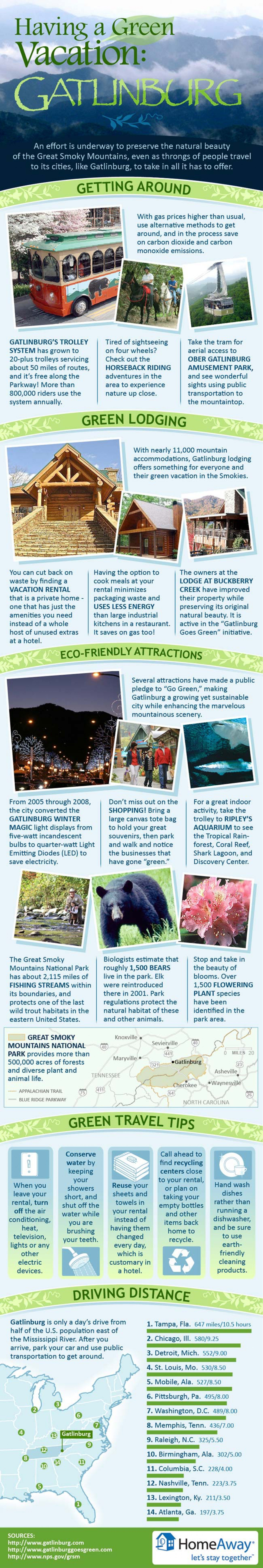 Have a Green Vacation Infographic