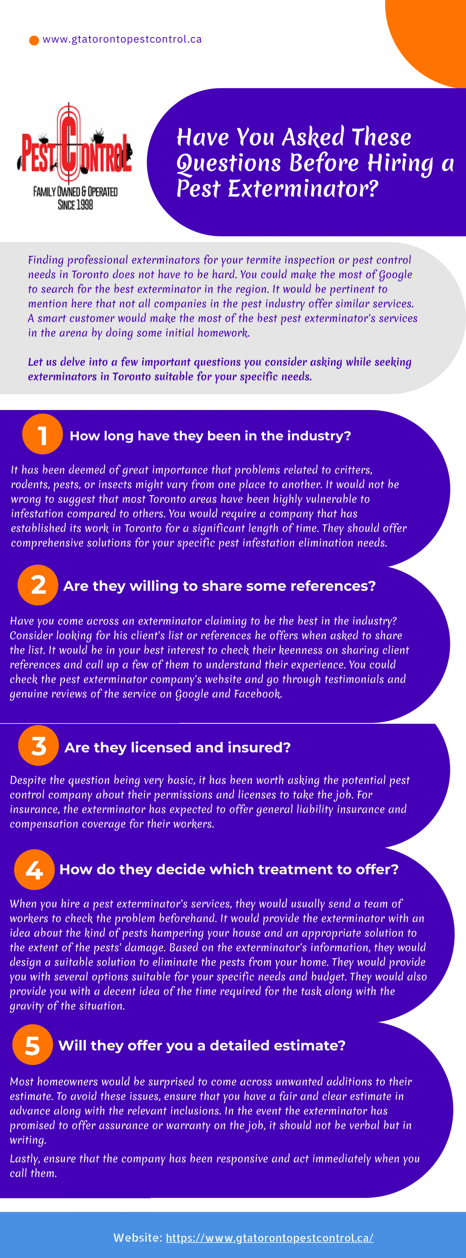 Have You Asked These Questions Before Hiring a Pest Exterminator? Infographic