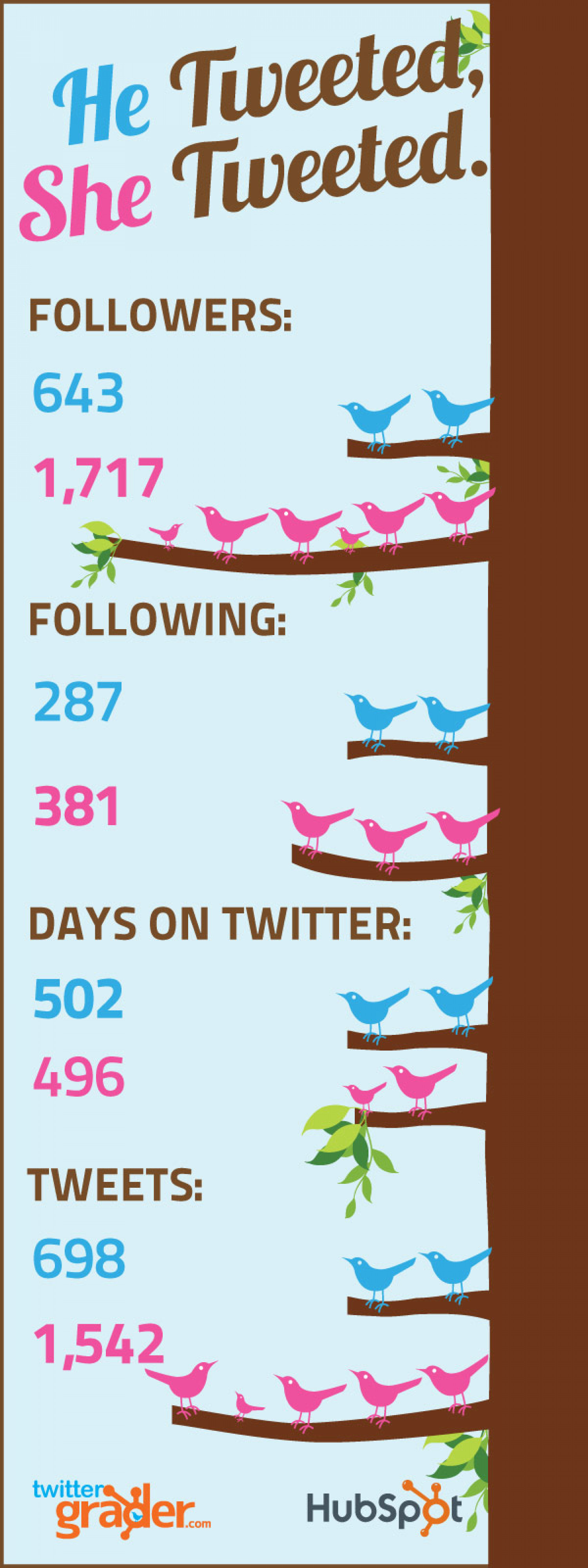 He Tweeted, She Tweeted. Infographic