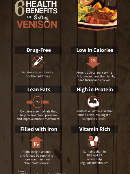 Health Benefits of Eating Venison Infographic
